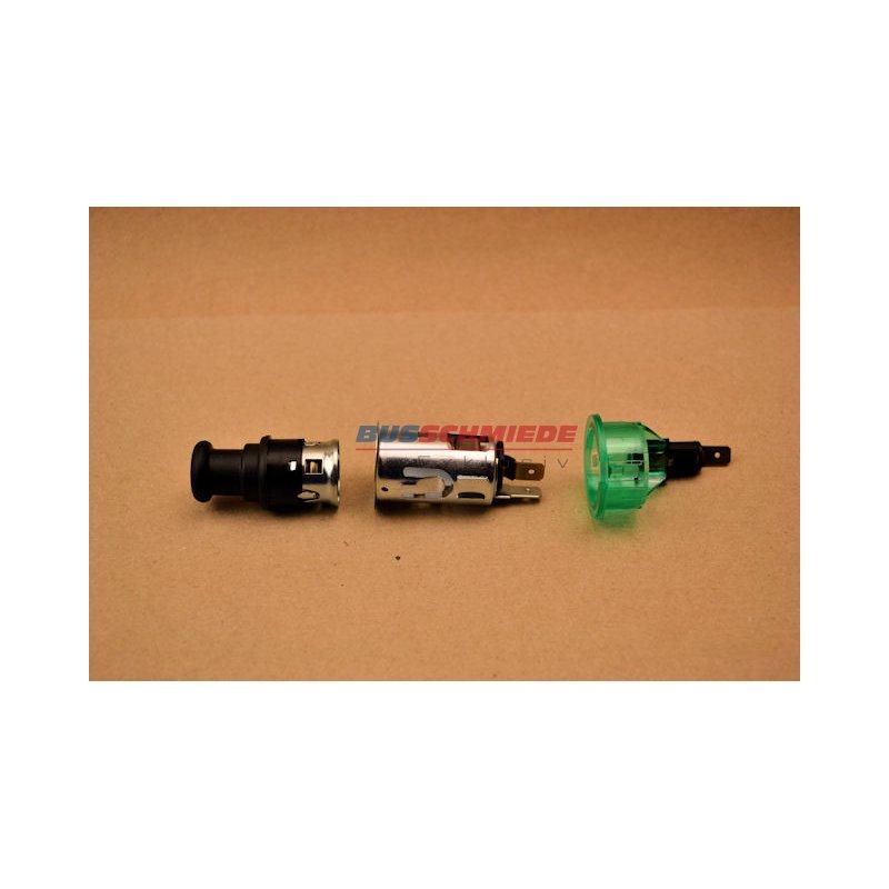 12 volt zigarettenanz nder 12 volt steckdose gr n beleuchtet. Black Bedroom Furniture Sets. Home Design Ideas